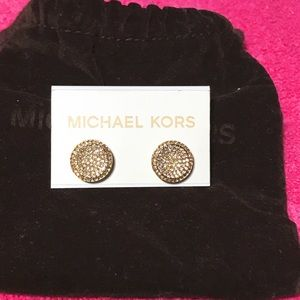 Michael Kors Gold Earrings Brilliance Collection